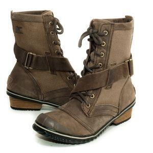 """SOREL """"Slimboot"""" Waterproof Distressed-Look Boots"""